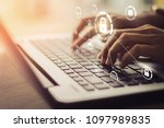 business  technology  internet... | Shutterstock . vector #1097989835