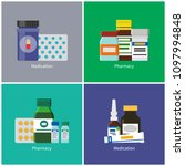 medication and pharmacy posters ... | Shutterstock .eps vector #1097994848