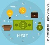 money finances set icons   Shutterstock .eps vector #1097995706