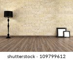 Empty Grunge Interior With Old...