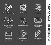 medical tax savings w health... | Shutterstock .eps vector #1098001862