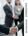 close up of handshake business... | Shutterstock . vector #1098002495