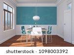 dining room interior design... | Shutterstock . vector #1098003392