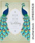 wedding invitation card... | Shutterstock .eps vector #1098005828