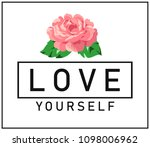 simple black text with flower.... | Shutterstock .eps vector #1098006962