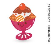 ice cream in a vase with... | Shutterstock . vector #1098013352