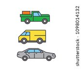 pickup car line icon concept.... | Shutterstock .eps vector #1098014132