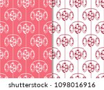 floral seamless pattern with... | Shutterstock .eps vector #1098016916