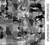 seamless pattern mixed design.... | Shutterstock . vector #1098018152