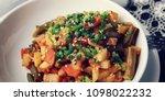 vegetable stew with potato ... | Shutterstock . vector #1098022232