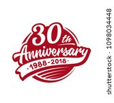 30 years anniversary design... | Shutterstock .eps vector #1098034448
