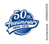 50 years anniversary design... | Shutterstock .eps vector #1098034535