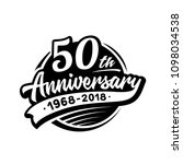 50 years anniversary design... | Shutterstock .eps vector #1098034538
