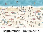 hand drawn banner with tiny... | Shutterstock .eps vector #1098035315