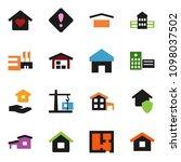 solid vector ixon set   house... | Shutterstock .eps vector #1098037502