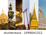 experience the real bangkok... | Shutterstock . vector #1098041312