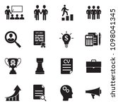 career and business icons.... | Shutterstock .eps vector #1098041345