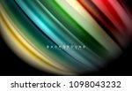abstract wave lines fluid... | Shutterstock .eps vector #1098043232