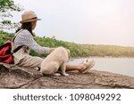 relaxing moments  asian girl... | Shutterstock . vector #1098049292