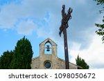 medieval village in france | Shutterstock . vector #1098050672