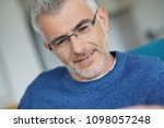 middle aged guy with trendy... | Shutterstock . vector #1098057248