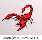 Red Scorpion Vector...