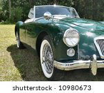 detail of vintage car parked on ...   Shutterstock . vector #10980673