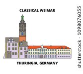 classical weimar  thuringia ... | Shutterstock .eps vector #1098076055