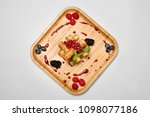 fried rolls with duck meat and... | Shutterstock . vector #1098077186