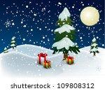 christmas night | Shutterstock . vector #109808312