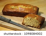 sliced and whole loaf of home... | Shutterstock . vector #1098084002