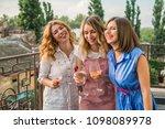 girls party. beautiful women... | Shutterstock . vector #1098089978