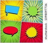 comic book templates collection ... | Shutterstock .eps vector #1098097736