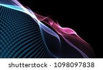 abstract blue and violet cg... | Shutterstock . vector #1098097838
