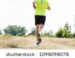 young male runner on cross... | Shutterstock . vector #1098098078
