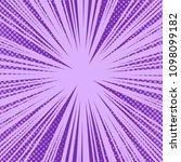 comic book purple bright... | Shutterstock .eps vector #1098099182