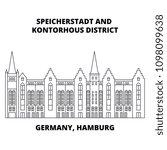 germany  hamburg  speicherstadt ... | Shutterstock .eps vector #1098099638