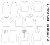 vector template for women's... | Shutterstock .eps vector #1098100145