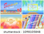 summer mood hot days hello... | Shutterstock .eps vector #1098105848
