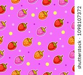 seamless fruit vector pattern... | Shutterstock .eps vector #1098107372
