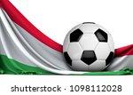 soccer ball on the flag of... | Shutterstock . vector #1098112028