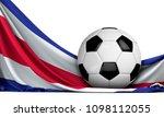 soccer ball on the flag of... | Shutterstock . vector #1098112055