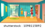 vector bathroom interior with... | Shutterstock .eps vector #1098115892