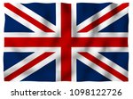 waving flag of the great... | Shutterstock . vector #1098122726
