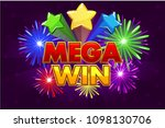 vector mega big win banner for...