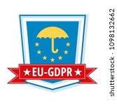 eu gdpr shield label... | Shutterstock .eps vector #1098132662