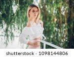 fashion lifestyle portrait of...   Shutterstock . vector #1098144806