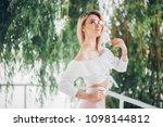fashion lifestyle portrait of...   Shutterstock . vector #1098144812