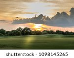 texas golf course fairway at... | Shutterstock . vector #1098145265