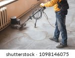 grinding of concrete floor | Shutterstock . vector #1098146075